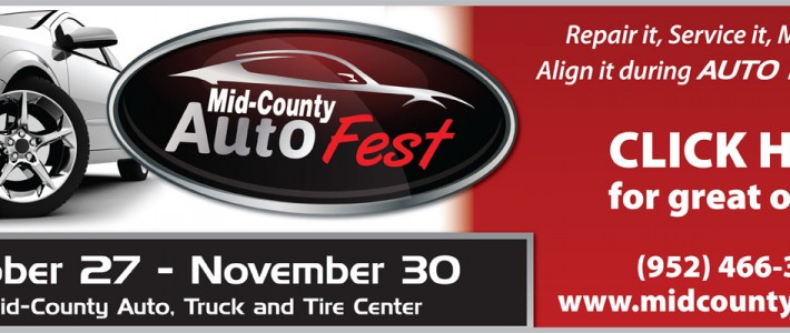 Mid-County Auto Fest – Now until November 30
