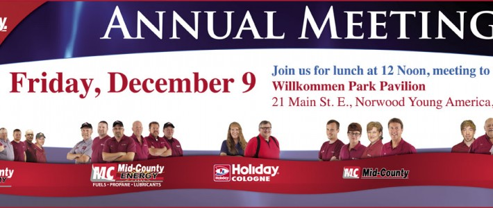 Mid-County Annual Meeting • Friday, December 9th