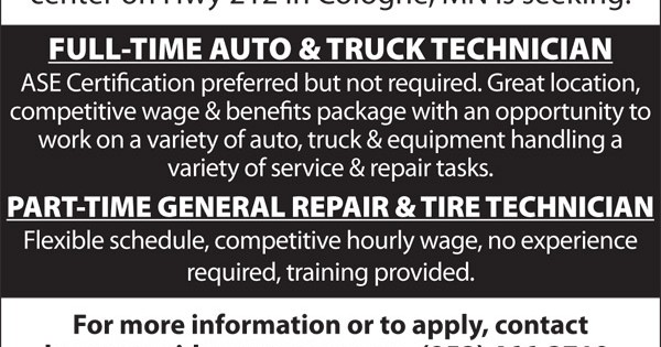HELP WANTED at Mid-County Auto, Truck & Tire – Mid-County Coop