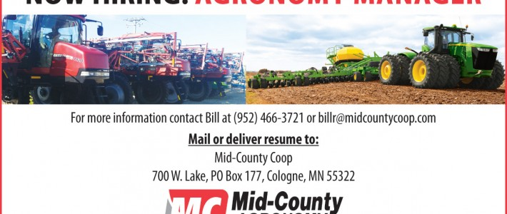 Agronomy Manager Wanted